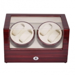 Self Winder box 4 Watches Silent Deluxe Brown Beige