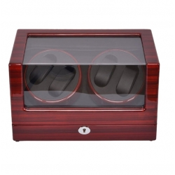 Self Winder box 4 Watches Silent Deluxe Brown Black