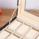 Watch Box 24 Slots Leather Stain