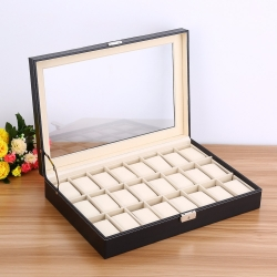 Caja 24 Relojes Cuero Stain