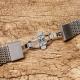 Shark Mesh 22mm Stainless Steel Bracelet Butterfly