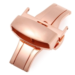 Butterfly Stainless Steel Clasp Rose Gold