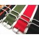 Bracelet montre Nylon Style Nato 24mm Couleurs au Choix