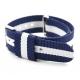 Bracelet montre WELLI Nylon Style Nato 18mm Couleurs au Choix