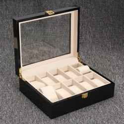 Watch Box 10 Slots Wood Burgun
