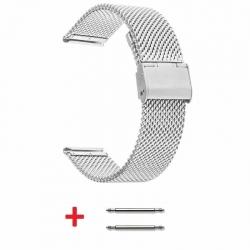 Bracelet Maille Milanaise Fine 20mm réglable