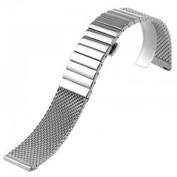 Dino Slim Mesh 20mm Stainless Steel Bracelet adjustable