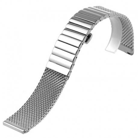 Bracelet Maille Milanaise Fine Dino 24mm réglable