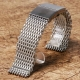 Shark Mesh 22mm Stainless Steel Bracelet Butterfly