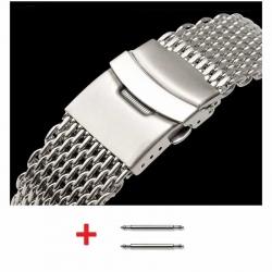 Shark Mesh 24mm Stainless Steel Bracelet