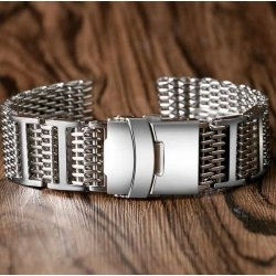 Shark Mesh with links 20mm Stainless Steel Bracelet