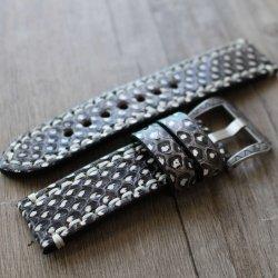 Bracelet montre 100% cuir Véritable Python 20mm 22mm 24mm 26mm
