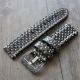 Bracelet montre 100% cuir Véritable Python 20mm 22mm 24mm 26mm Marron Foncé