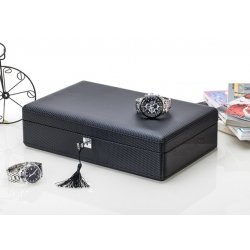 High Quality Watch Box 12 Slots Carbon Fiber Zweiler Habana