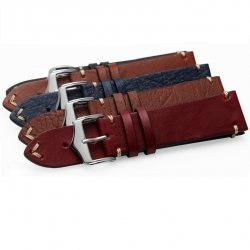 Leather Strap 100% Genuine Cow 20mm 22mm 24mm