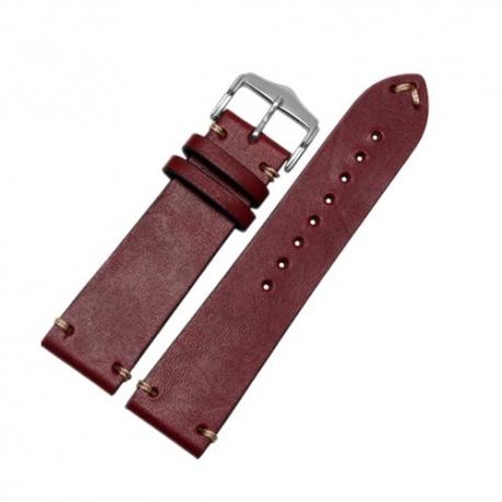Bracelet montre 100% cuir Véritable Vachette 20mm 22mm 24mm