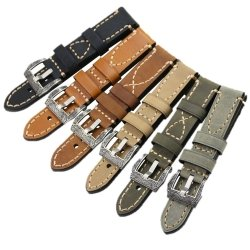 Leather Strap 100% Genuine Clim 20mm 22mm 24mm 26mm