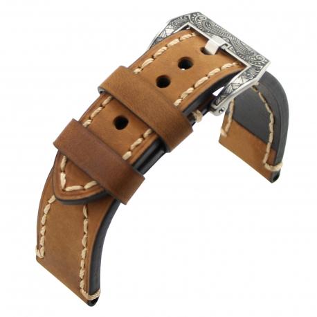 Leather Strap 100% Genuine Clim 20mm 22mm 24mm 26mm