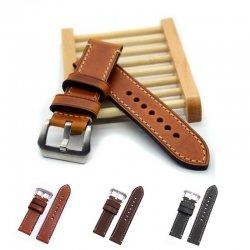Bracelet montre 100% cuir Véritable Swen 22mm 24mm 26mm