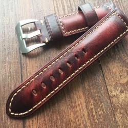 Leather Strap 100% Genuine Tan 20mm 22mm 24mm 26mm Light Brown