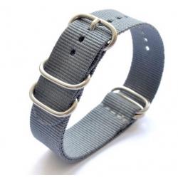 Bracelet montre Nylon Nato Bond Gris