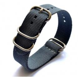 Bracelet montre Nylon Nato Bond Noir