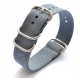 Bracelet montre Nylon Style Nato 22mm Couleurs au Choix