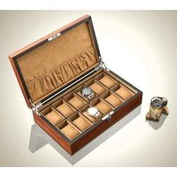 High Quality Watch Box 12 Slots Zebra Wood