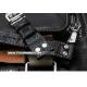 Bracelet montre Aviateur 100% cuir Véritable 22mm Noir