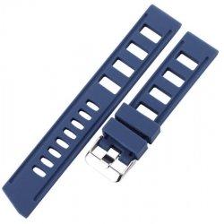 Bracelet Silicone Pérforé 20mm ou 22mm Bleu