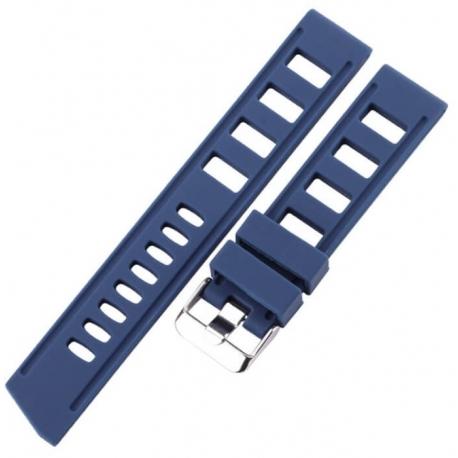 Correa Silicona Perforada Azul 20mm o 22mm Vintage