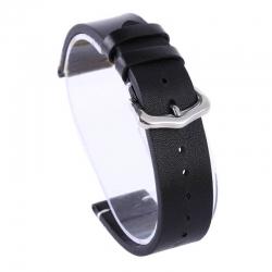 Correa Cuero Genuino Reloj Exius 18mm 20mm 22mm Negra