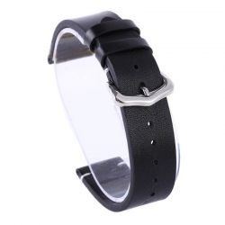 Leather Strap 100% Genuine Tinor 16mm 18mm 20mm 22mm 24mm Black