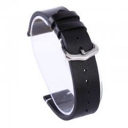 Bracelet montre cuir Véritable Exius 18mm 20mm 22mm Noir