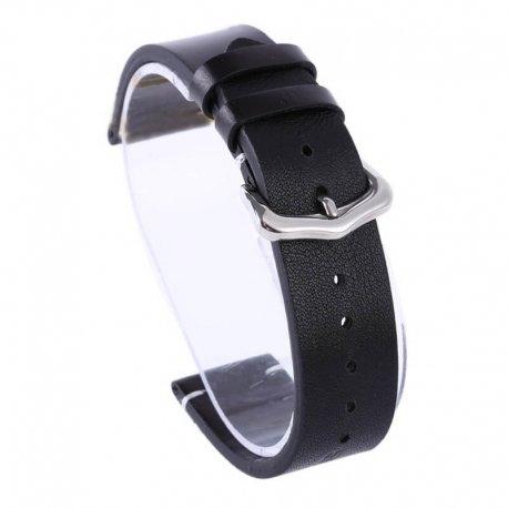 Bracelet montre cuir Véritable 100% Tinor 16mm 18mm 20mm 22mm 24mm noir