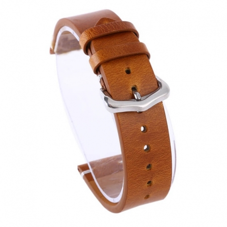 Bracelet montre cuir Véritable Exius 18mm 20mm 22mm marron clair