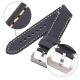 Bracelet montres en cuir Véritable Ecus 20mm 22mm 24mm Noir