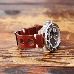 Bracelet en cuir véritable vintage Rallye