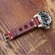Bracelet en cuir véritable vintage Rallye vue arriere