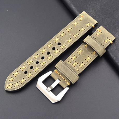Bracelet montre 100% cuir Véritable Geyne & Beers 20mm Beige