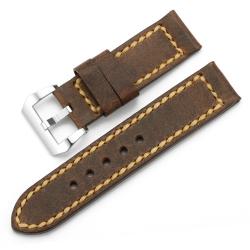 Bracelet montre 100% Cuir Vache Véritable Marrón 24mm