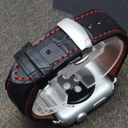Correa Cuero Apple Watch 100% Genuino Carrera 42mm Deployante