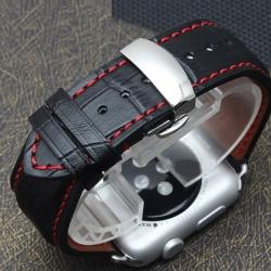 Bracelet Apple Watch iWatch cuir 100% véritable 38mm Carrera papillon