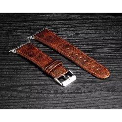 Bracelet Apple Watch Perfectis cuir 100% véritable 42mm Chocolat