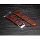 Bracelet Apple Watch Perfectis cuir 100% véritable 38mm Chocolat