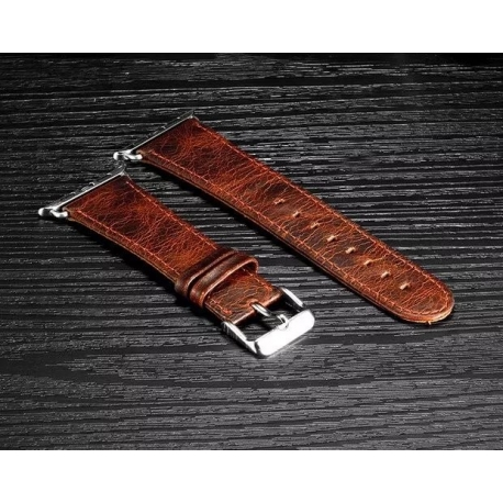 Apple Watch Leather Strap 100% Genuine Perfectis 38mm Chocolate