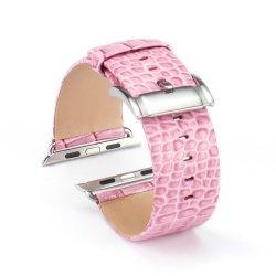 Bracelet Apple Watch Perfectis cuir 100% véritable 42mm Rose
