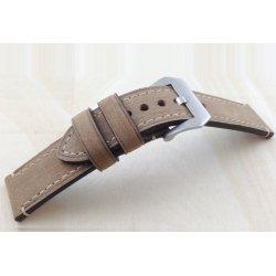Bracelet montre 100% cuir Véritable Stany 20mm Marron