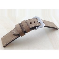 Leather Strap 100% Genuine Stany 20mm Brown