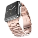 Bracelet Apple Watch Acier Inox 42mm Plaqué Or Rose
